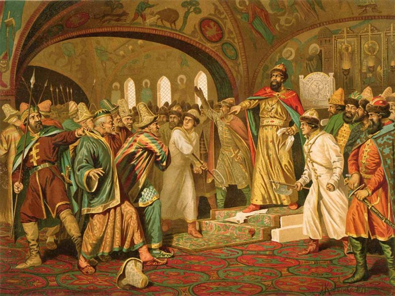 """1476 г. Иван III Васильевич перестал платить """"выход"""" хану Орды"""