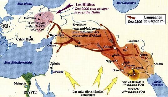 -2300 г. до н.э. Саргон Древний, шумерский правитель, основал династию Аккада