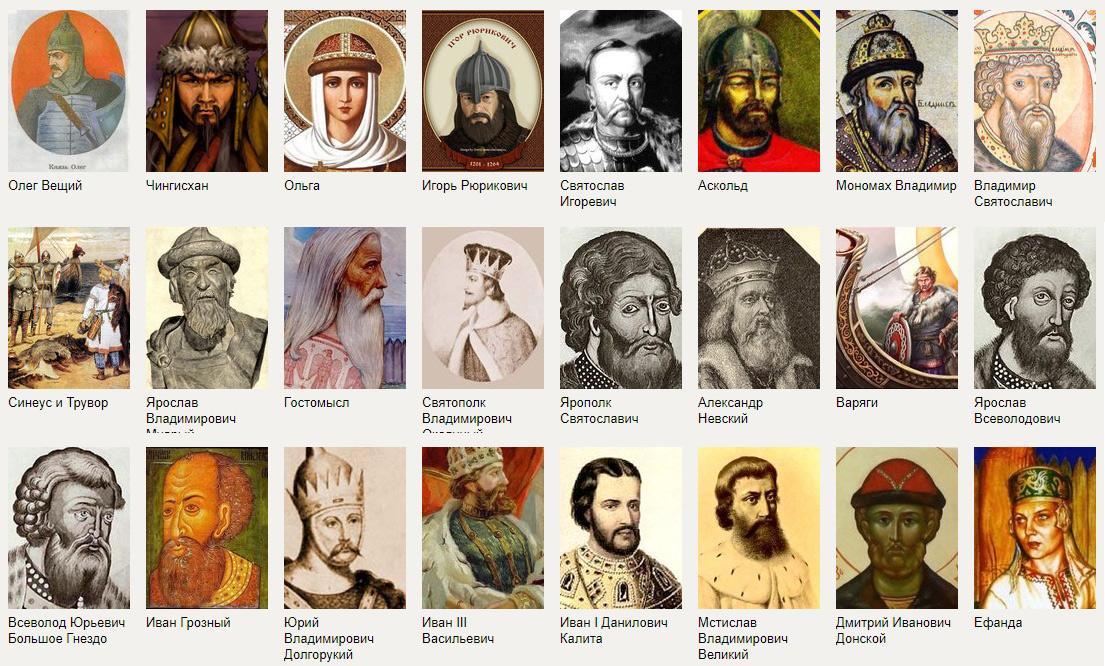исторические личности россии от древней руси до наших дней таблица первого взгляда, последнего