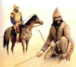 -86 г. (до.н.э.) Юэчжи проживали от востока Таримского бассейна до севера Ганьсу