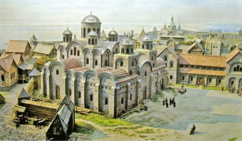 996 г. Владимир Святославич достроил Десятинную церковь успения Богородицы