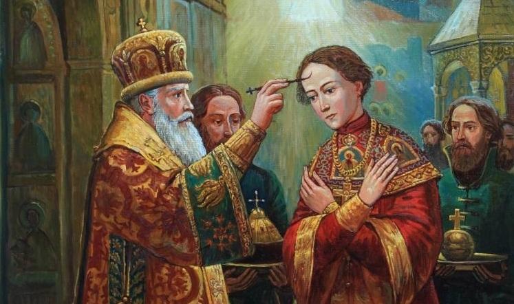 1613 г. Михаил Фёдорович Романов венчается на царство