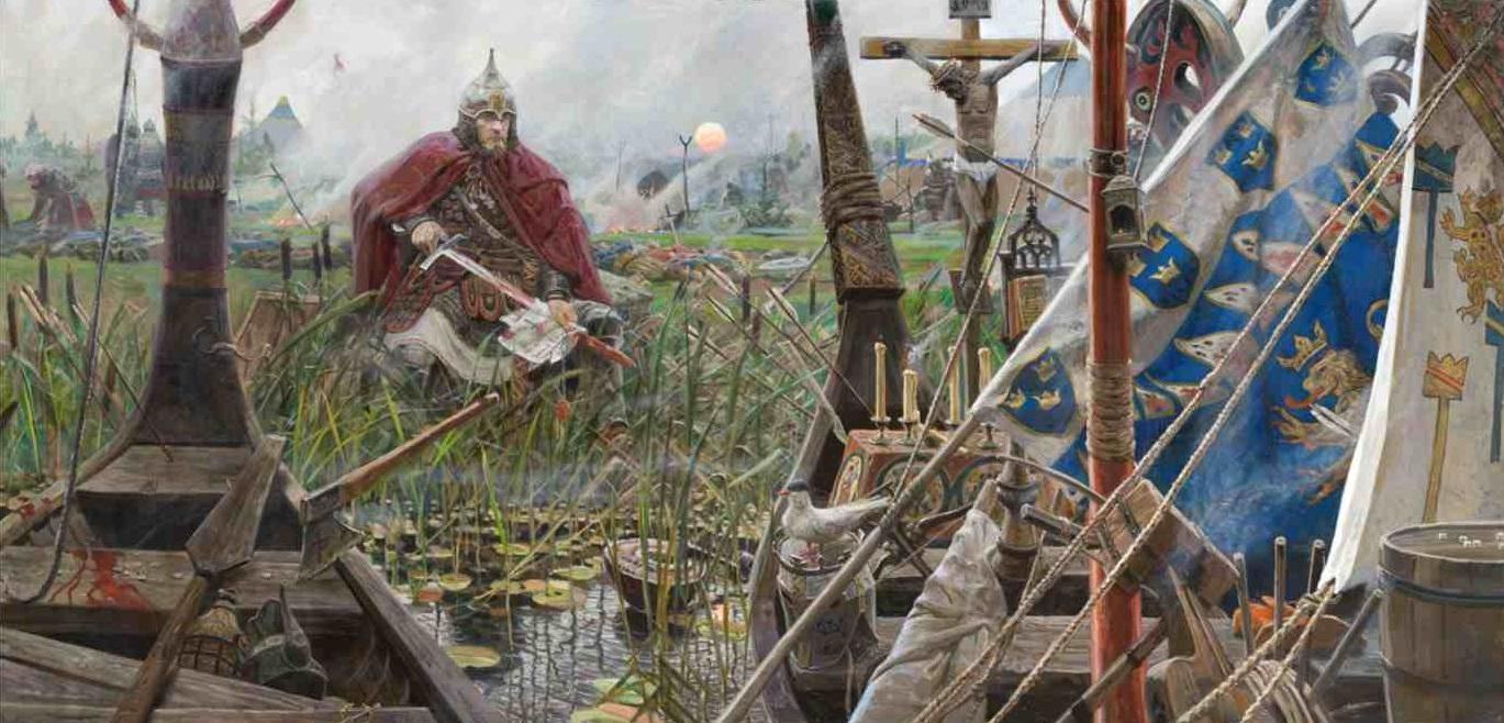 1240 г. Александр Невский разгромил шведских крестоносцев на Неве