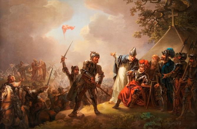1219 г. Вальдемар II, король Дании, победил эстов-язычников