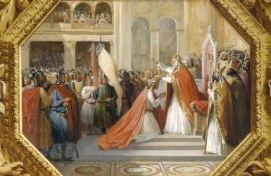 816 г. Папа Римский Стефан короновал Людовика I Благочестивого как правителя Римской империи
