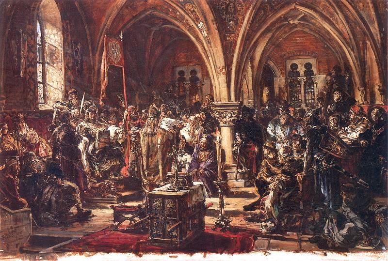 1385 г. Ягайло, великий князь литовский, заключает Кревскую унию с Польшей