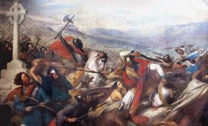 732 г. Карл Мартелл остановил продвижение армии арабов мусульман при Пуатье