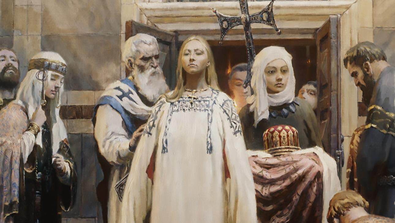 955 г. Ольга принимает Крещение, а Константин VII Багрянородный предлагает ей брак