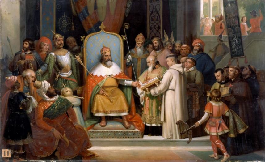 800 г. Карл Великий коронован папой Римским как правитель Римской империи
