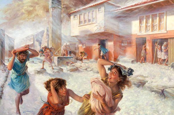 79 г. Вулкан Везувий извергся, уничтожив Помпеи и другие римские города