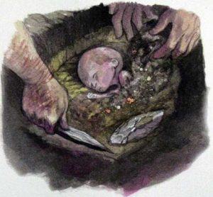-30 000 г. до н.э. Неандерталец похоронил выкидыш 7 месяцев беременности