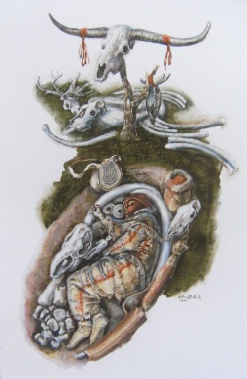 -30 000 г. до н.э. Кроманьонец похоронил мужчину с головным убором из раковин моллюсков