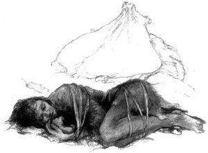 -30 000 г. до н.э. Кроманьонец захоронил связанную женщину