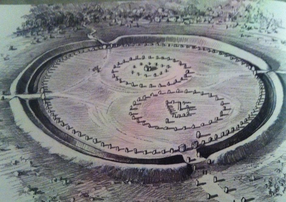 -2100 г. до н.э. Люди использовали святилище Эйвбери