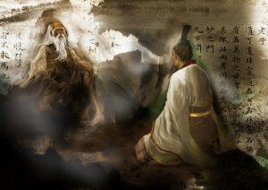 -517 г. до н. э. Лао-цзы, основатель даосизма, встречается с Конфуцием