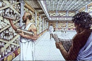 -283 г. до н. э. Деметрий Фалерский принимает участие в основании Мусейона и Александрийской библиотеки