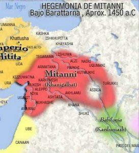 -1470 г. до н.э. Парраттарна, правитель воинов хурритов, установил владычество Митанни в Северной Сирии
