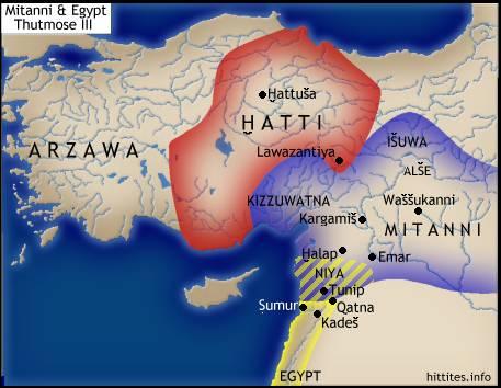 -1400 г. до н.э. Артатама I правитель Митанни отвоевал выход к Средиземному морю у Египта