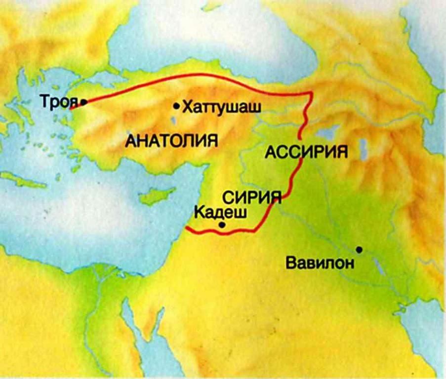 -2300 г. до н.э. Хатти владели городом Пурусханда в Центральной Анатолии