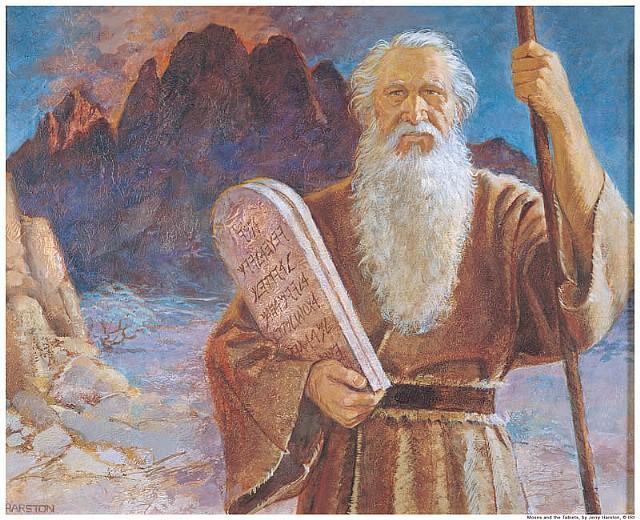 -1535 г. до н.э. Моисей сообщает евреям Десять заповедей Бога