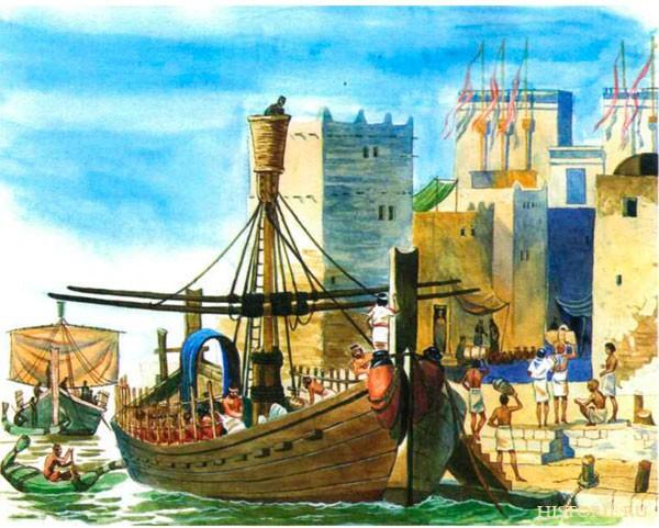 -1200 г. до н.э. Сидоняне (финикийцы) занимались пиратством и работорговлей