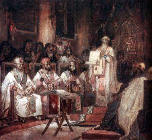 381 г. Григорий Нисский, отец церкви и епископ Ниссы, принимал участие во Втором Вселенском соборе