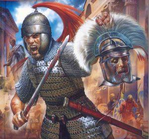 410 г. Аларих, правитель вестготов, захватывает и грабит Рим
