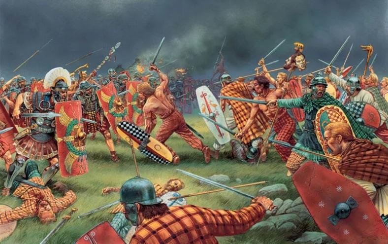 -55 г. (до.н.э) Гай Юлий Цезарь переправился в Британию с десятитысячной армией