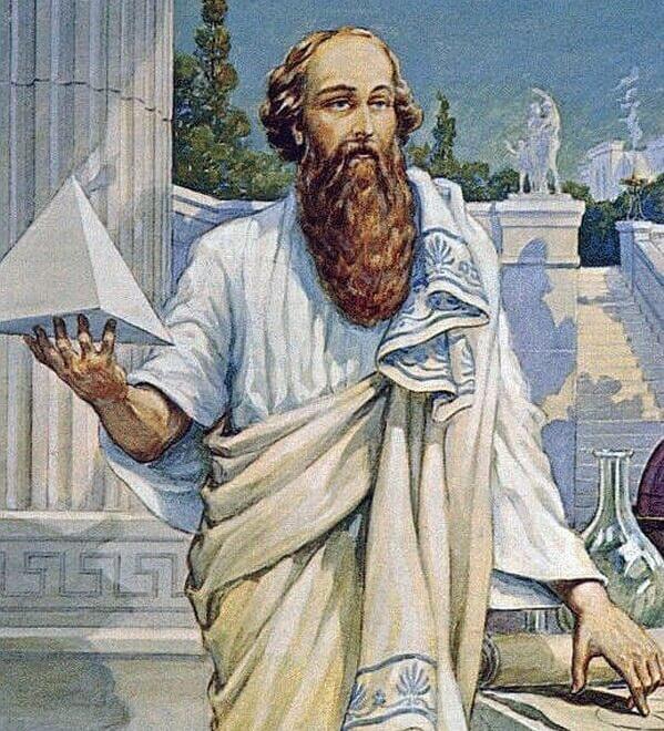-390 г. д.н.э. Филолай вынужден обнародовать тайное учение Пифагора из-за нужды в средствах