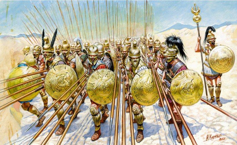 -338 г. (до.н.э) Филипп II Македонский разбил объединенную армию греков у Херонее