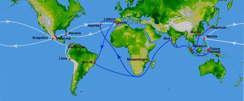 1521 г. Лиссабон становится центром мировой торговли