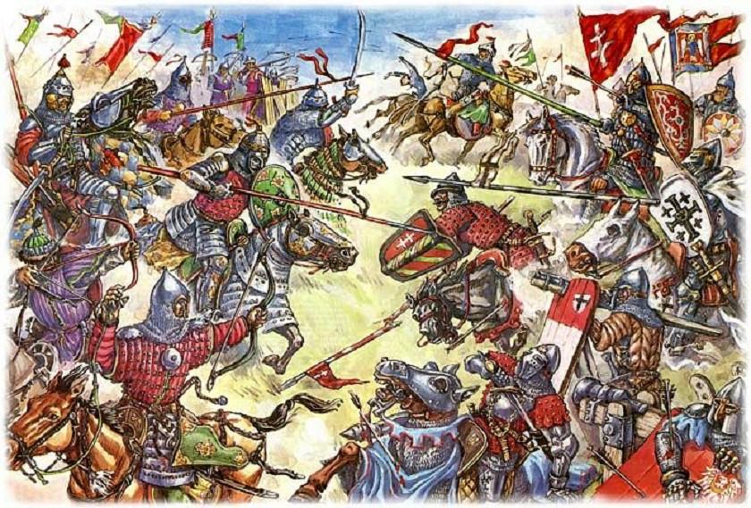 1399 г. Витовт терпит сокрушительное поражение от монгольского войска Едигея в битве на Ворскле
