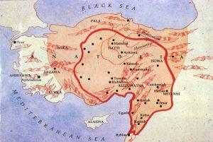 -1650 г. д.н.э. Лабарна I увеличил территорию Хеттского царства от Средиземного моря до Черного моря