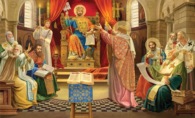 325 г. Никейский собор (I Вселенский собор) осудил Арианство, принял Символ веры и изгнал Ария