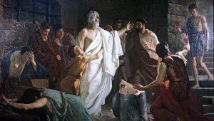 -399 г. (до н.э.) Сократ, первый классический философ, осужден на смерть демократическим судом Афин