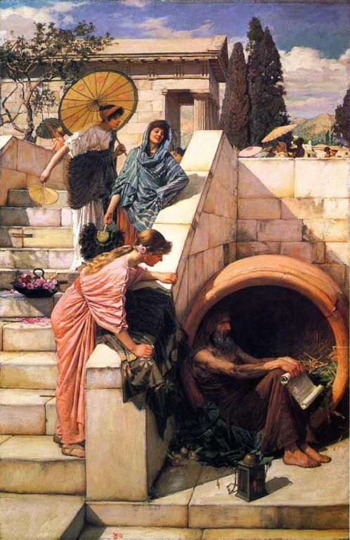 335 г. (до.н.э) Диоген просит Александра Македонского не загораживать ему Солнце