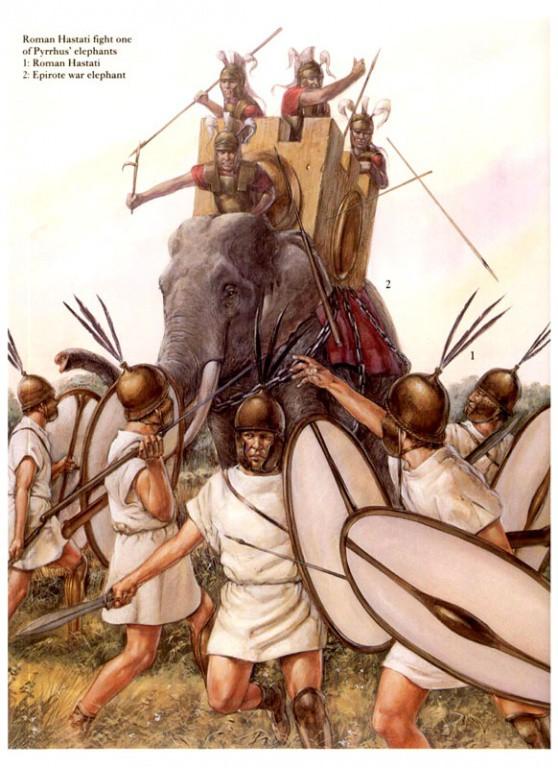 -275 г. до н. э. Римская республика вытеснила из Италии царя Пирра