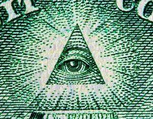 Глаз в треугольнике на долларе