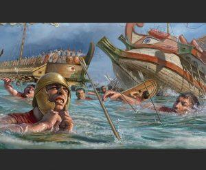 Финикийский боевой корабль с глазом